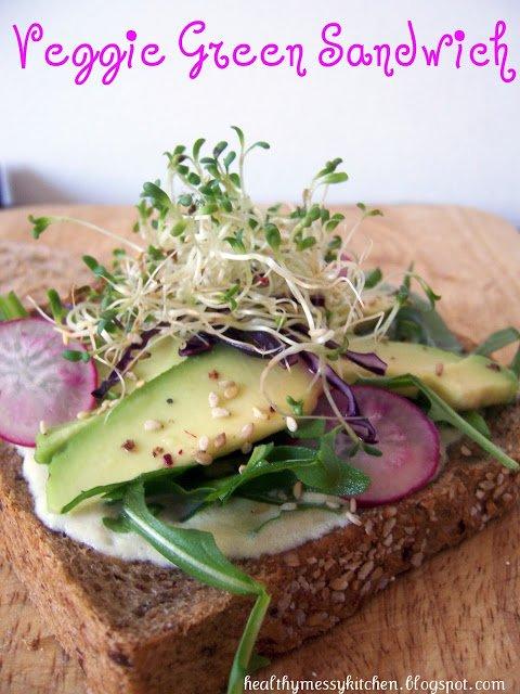 Veggie green sandwich di Healthymessykitchen